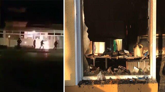 PKK'lılar Almanya'da Kürtlerin hakkını cami yakarak savunuyor!