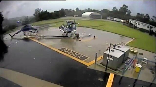 Korkunç helikopter kazası kamerada
