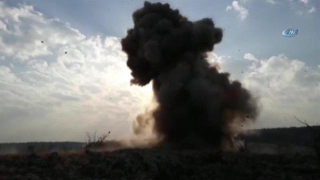Mardin'de ele geçirilen 1 ton patlayıcı böyle imha edildi