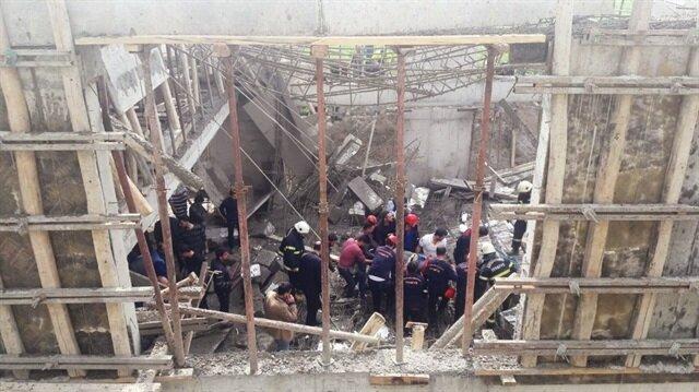 Son dakika... Kahramanmaraş'ta inşaatta göçük: 1 ölü, 5 yaralı