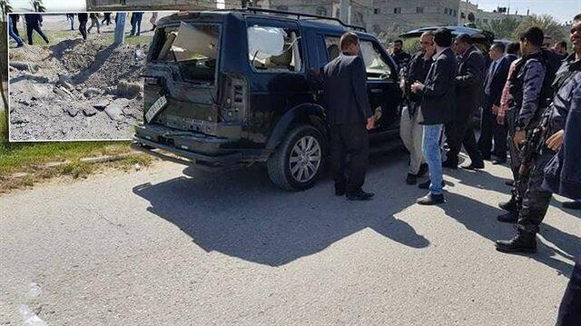Patlama sebebiyle konvoyda bulunan araçlarda hasar meydana geldi.