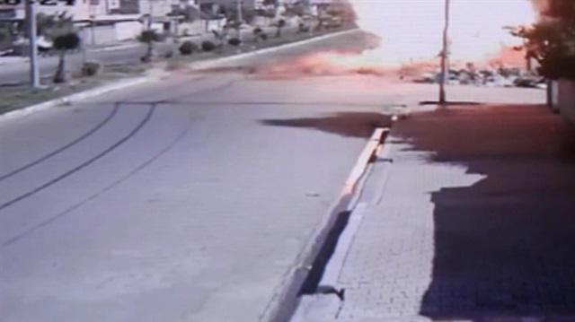 Kerkük'te bomba yüklü motosikletle saldırı kamerada