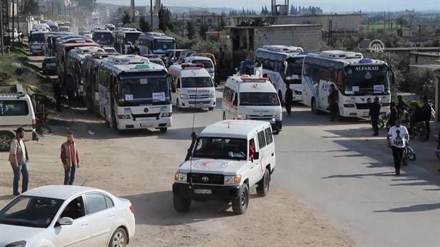 Esed'in kuşattığı Kadem'den bin 55 sivil tahliye edildi