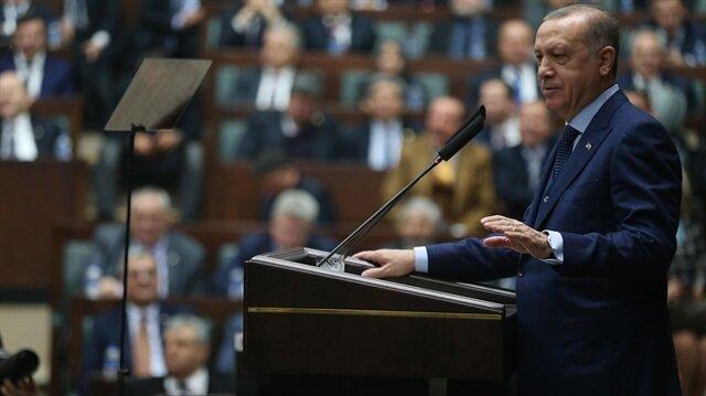 AK Parti TBMM Grup Toplantısı Cumhurbaşkanı Recep Tayyip Erdoğan