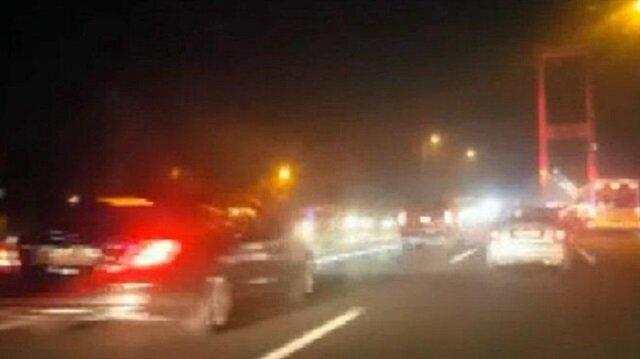Erdoğan'ın konvoyunu görünce heyecandan kaza yaptı