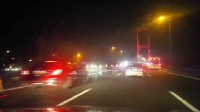 Erdoğan'ın konvoyunu görünce heyecandan böyle kaza yaptı