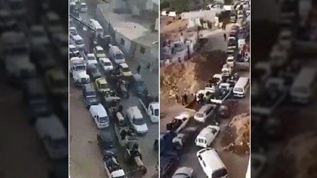 Afrin'de siviller 'güvenli koridordan' şehri terk ediyor
