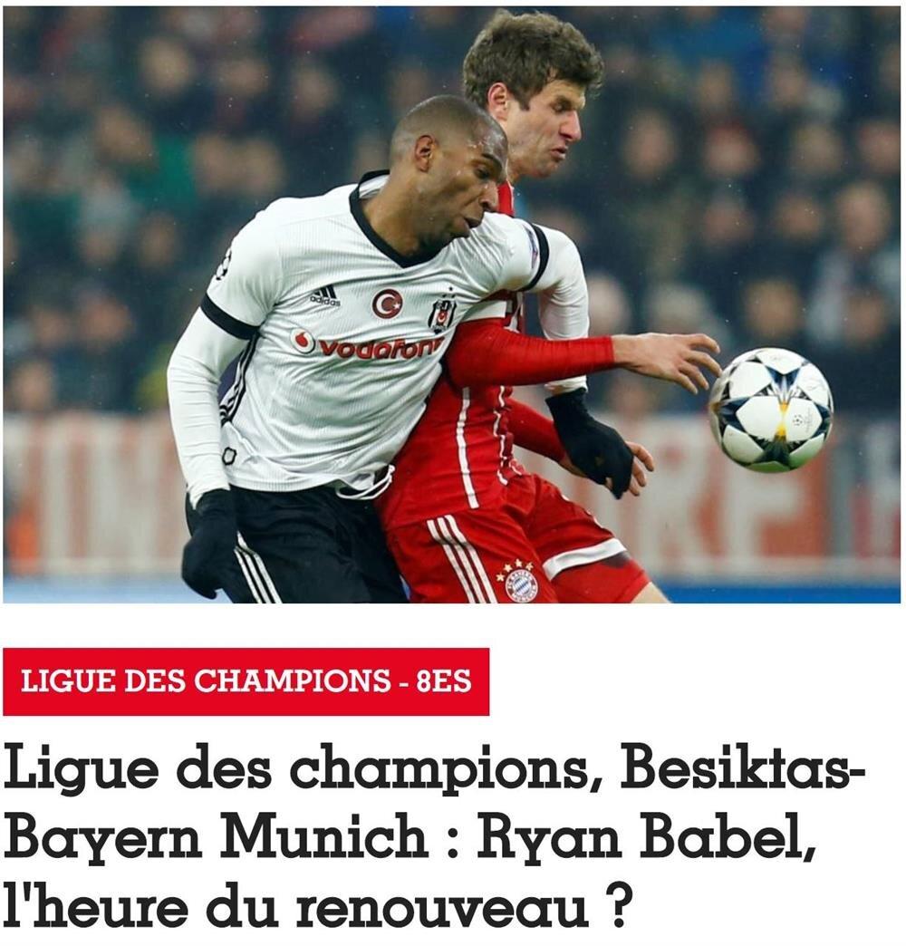 France Football, Beşiktaş'ın Devler Ligi'nde Bayern Münih'le oynayacağı rövanş maçı öncesi Babel'le ilgili dosya haber hazırladı.