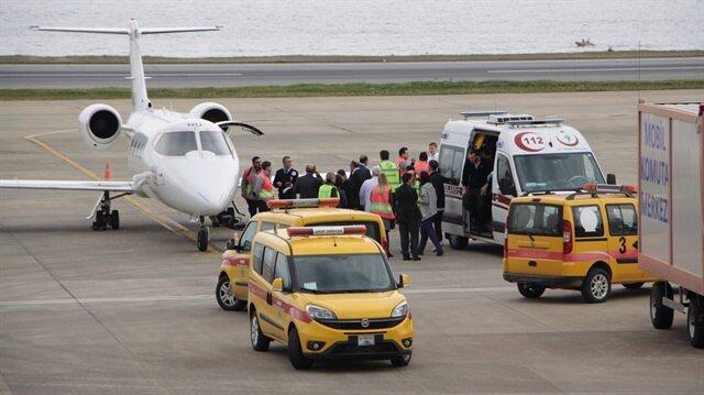 Ambulans uçak Trabzon'a acil iniş yaptı.