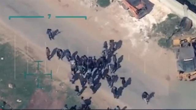 Afrin'den yeni görüntüler: PKK yine sivilleri kalkan yapıyor