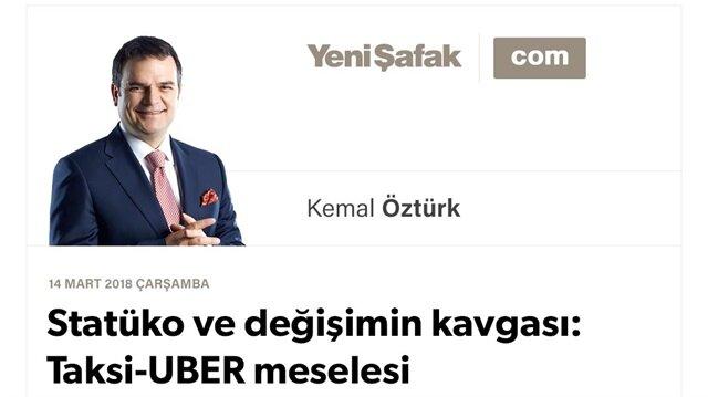 Statüko ve değişimin kavgası: Taksi-UBER meselesi