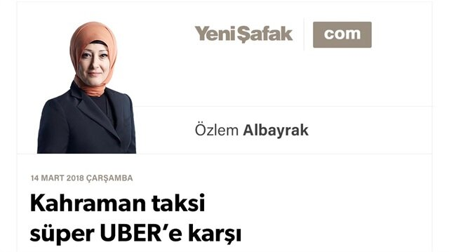Kahraman taksi süper UBER'e karşı