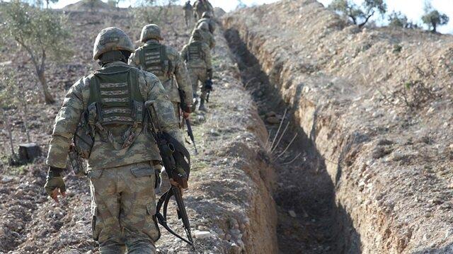 Afrin'deki terör mevzilerine yönelik operasyon devam ediyor