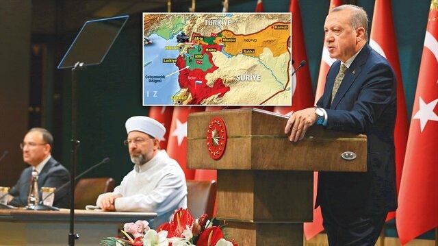Cumhurbaşkanı Erdoğan, Suriye'de terör örgütlerine yönelik operasyonların süreceği mesajını verdi