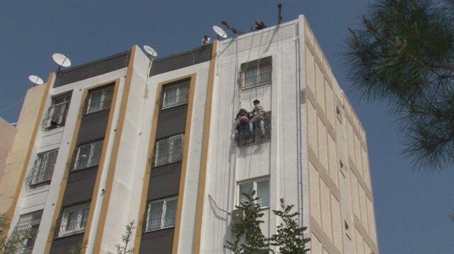 Adana'da yürekleri ağza getiren görüntü
