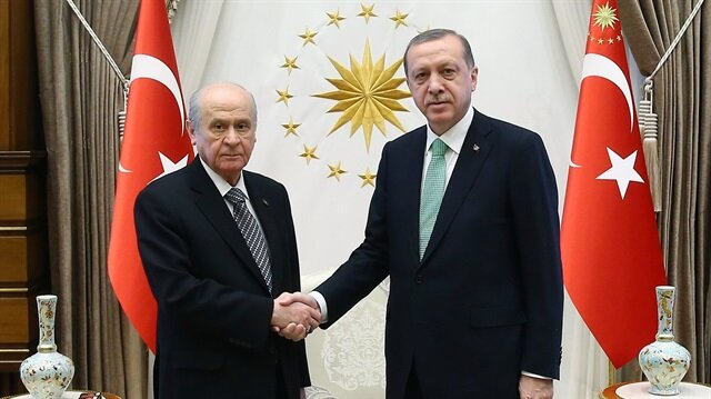 Cumhurbaşkanı Erdoğan ve MHP Lideri Bahçeli.
