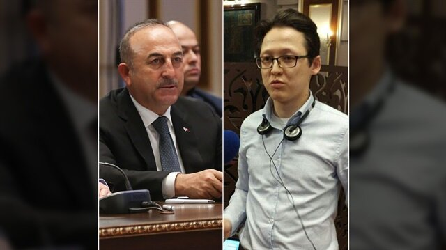 Bakan Çavuşoğlu'na soru soran Kazak gazeteci FETÖ'cü çıktı!
