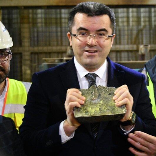 İlk altın üretildi