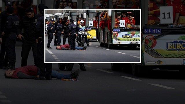 Otobüsten düştü!