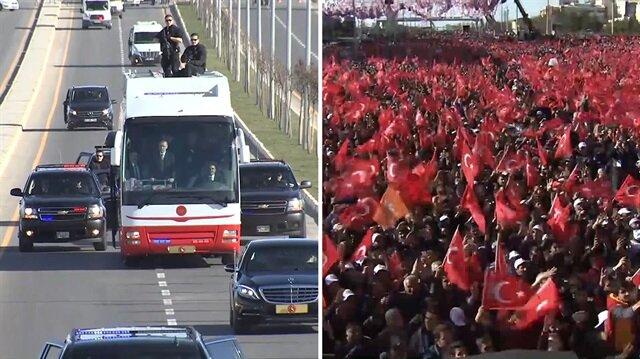 Cumhurbaşkanı Erdoğan Diyarbakır'da böyle karşılandı