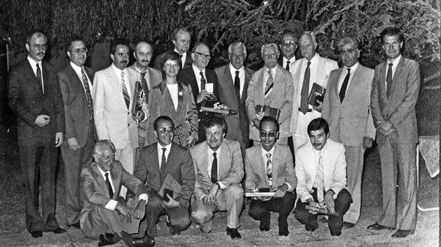 Ahmet Tabakoğlu bir bilimsel toplantı sonrasında