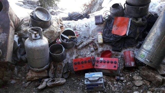 Tunceli'de PKK'ya ait yaşam malzemesi ele geçirildi