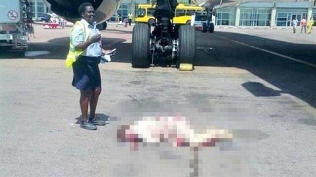 Uçaktan düşen hostes öldü