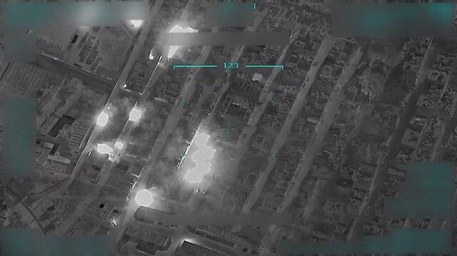 Teröristler Afrin merkezi ateşe veriyor