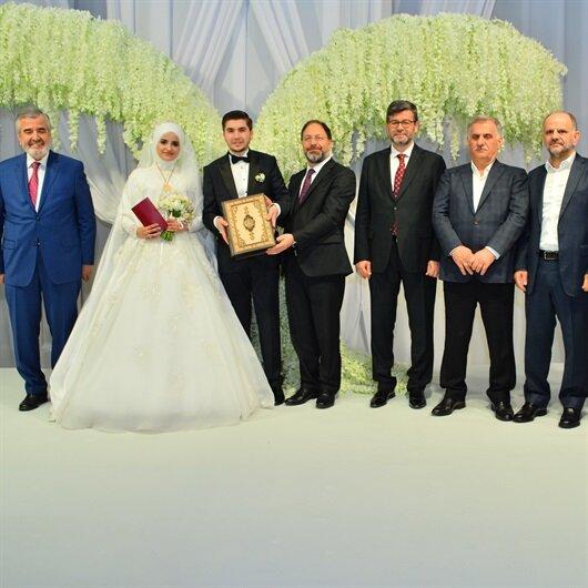 İstanbul Müftüsü ilk resmi nikahı kıydı