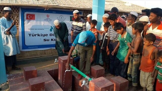 Turkish foundation opens water well for Rohingya