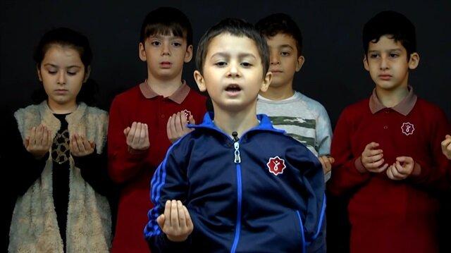 Öğrencilerden Mehmetçiğe duygulandıran dua