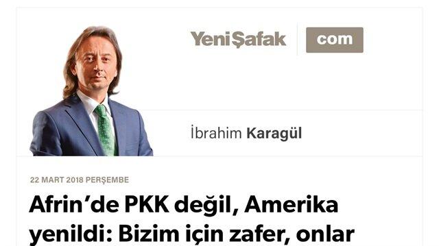 Afrin'de PKK değil, Amerika yenildi: Bizim için zafer, onlar için bozgun devam edecek..