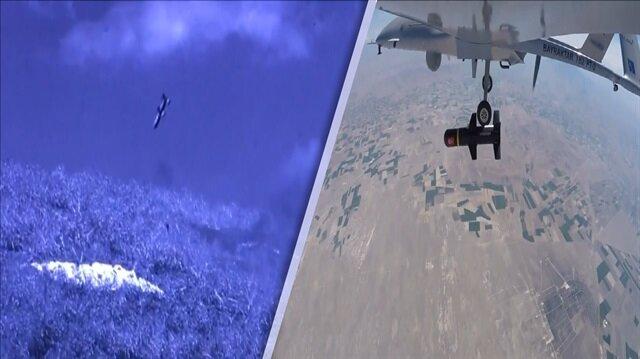Bayraktar TB-2 hedefi tam 12den vurdu