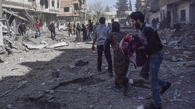 العالم يستقيظ على مجزرة مروّعة.. 37 مدنيًّا بالغوطة الشرقية قضَوا حرقًا