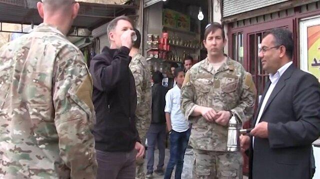 ABD'li komutanlar Membiç'te görüntülendi
