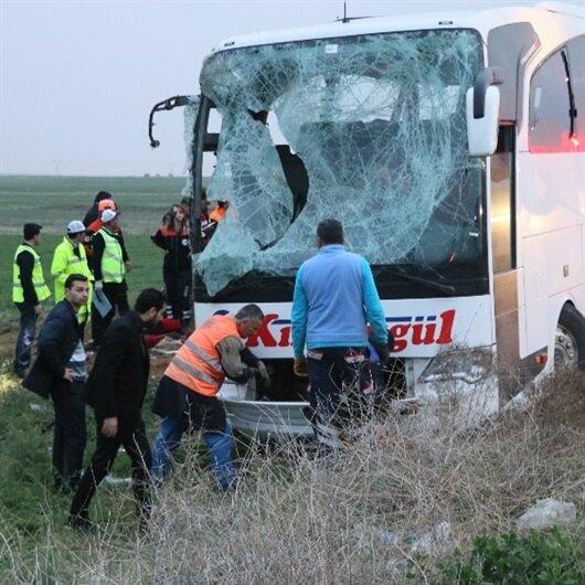 Otobüs şarampole <br>uçtu: 4 ölü, 27 yaralı