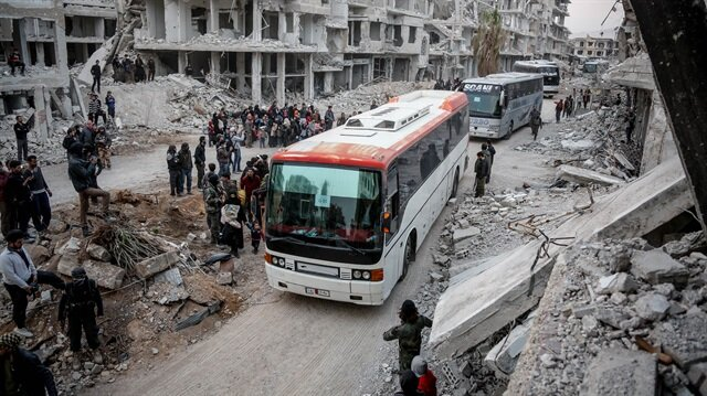 Almost 6800 militants, families leave E. Ghouta, head to Idlib - Russian military