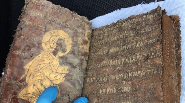 Aksaray'da deri üzerine yazılmış tarihi İncil bulundu
