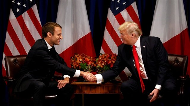 Trump discusses China trade practices, Syria, Russia with heads of France, Germany