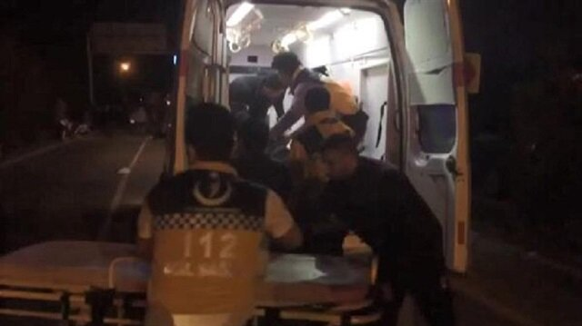 Kazanın ardından alev alan minibüsteki 15 kişi öldü, 30 kişi yaralandı.