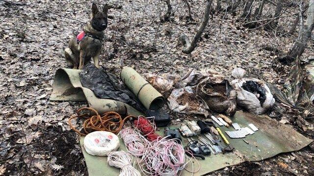Bingöl'de teröristlere ait patlayıcı maddesi ele geçirildi