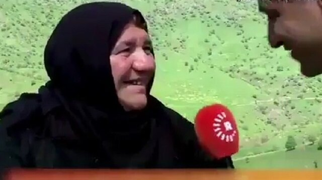 Kürt teyze Rudaw muhabirini soru sorduğuna pişman etti