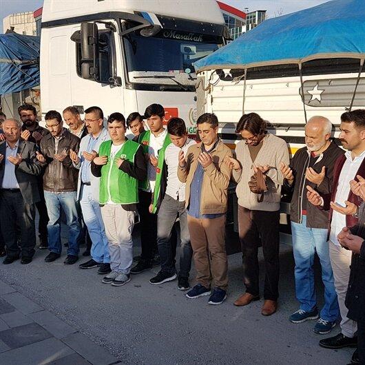 Niğde'den Suriye'ye 10 tır insani yardım malzemesi gönderildi