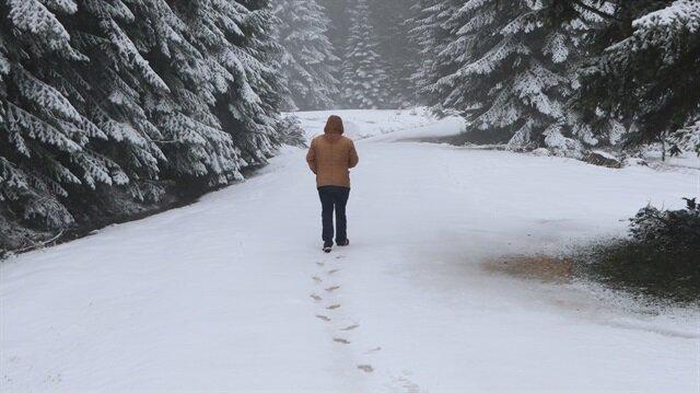 Kar kalınlığı 5 santimetreye kadar ulaştı.