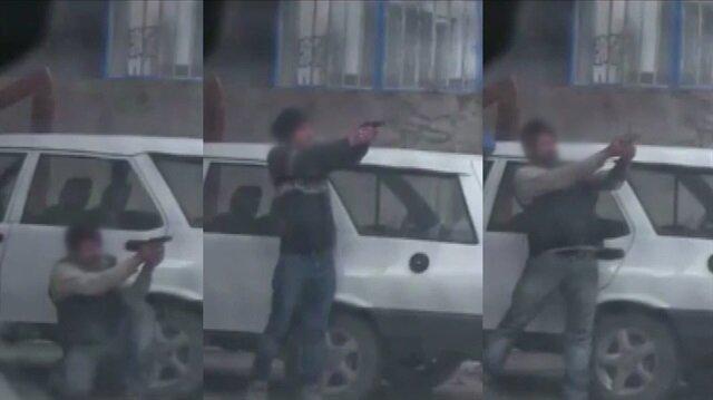 Teröristlerin atış talimi yaptığı görüntüler ortaya çıktı