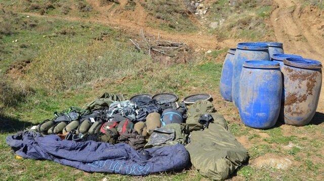 Bitlis'te teröristlere ait patlayıcı malzemesi ele geçirildi