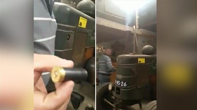 Tüfek mermisi ile marş alan 88 yıllık traktör