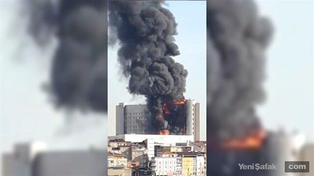 Gaziosmanpaşa'da hastane yangınından yeni görüntüler
