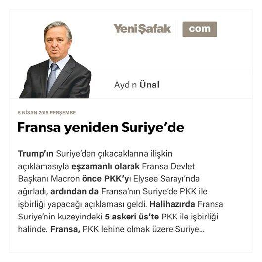 Fransa yeniden Suriye'de