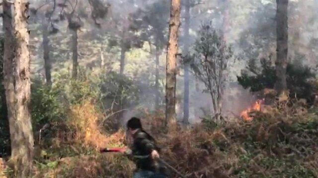 Aydos Ormanı alev alev yanıyor